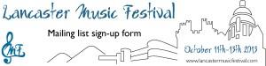 Lancaster Music Fest Banner