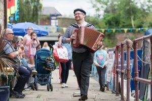 Street Accordion Blackburn Canal Festival